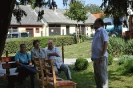 Képes beszámoló Gobányi Sándor és fia éremkiállításának falunapi megnyitójáról