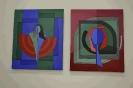 Skiba András alkotó festménykiállítása a sportcsarnokban